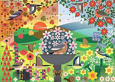 Birdie Seasons Jigsaw Puzzle