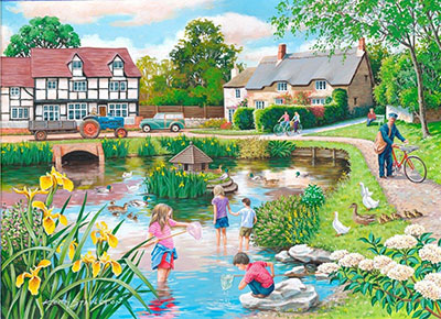 Duck Pond Jigsaw Puzzle