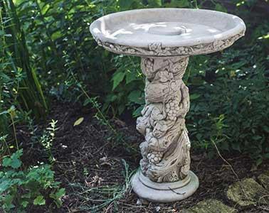 Fruit Design Stone Bird Bath