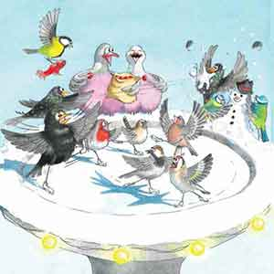 Get Your Skates On RSPB Christmas Cards