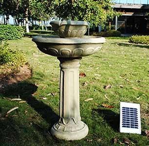 Large Solar Bird Bath