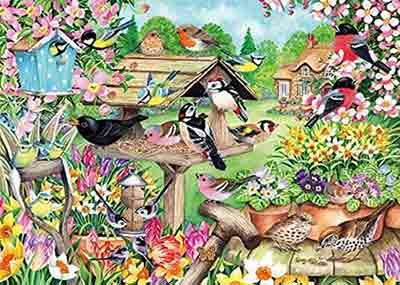 Spring Garden Birds Jigsaw Puzzle