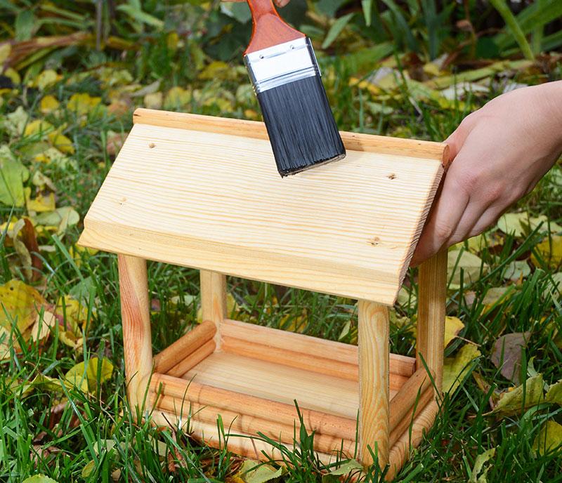 Treating A Bird Table