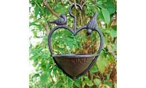 Hanging Heart Bird Feeder