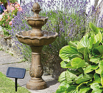 3 Tier Solar Bird Bath