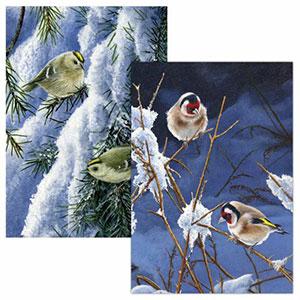 RSPB A Golden Christmas Cards