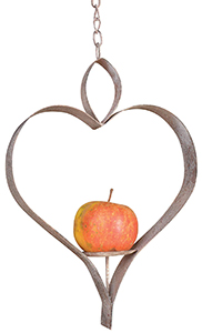 Apple Heart Bird Feeder