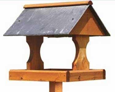 Bishopdale Slate Roof Bird Table