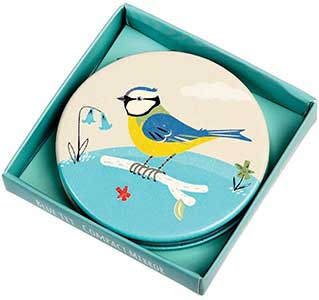 Blue Tit Compact Mirror