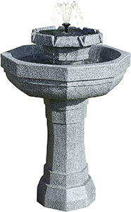 Castille Programmable Solar Bird Bath