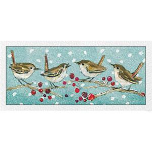 RSPB Four Calling Birds Christmas Cards