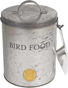 Galvanised Bird Food Tin