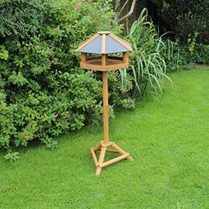 Hexagonal Slate Roof Bird Table