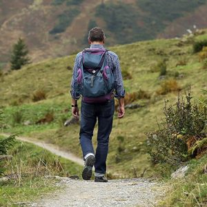 Man Walking In Countryside