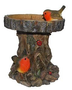 Robin Tree Trunk Feeder