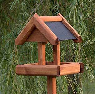 Rustic Slate Roof Bird Table