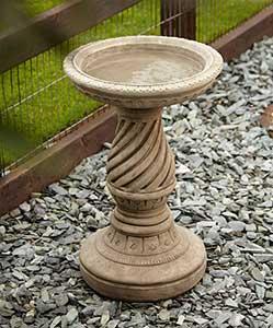 Spiral Stone Bird Bath