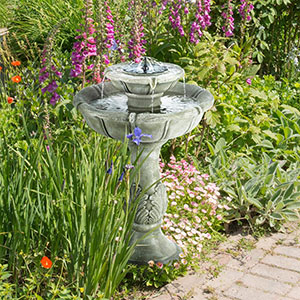 Two Storey Solar Powered Bird Bath