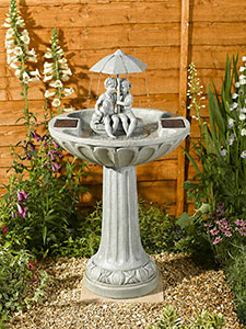 Umbrella Solar Bird Bath