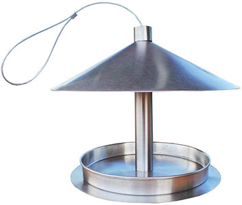 Stainless Steel Hanging Bird Table