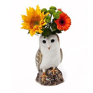 Barn Owl Flower Vase