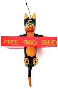 Novelty Cat Bird Feeder