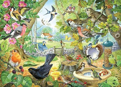 Dawn Chorus Of Wild Birds Jigsaw Puzzle