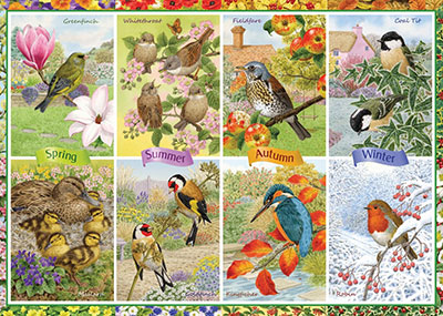 Garden Birds Jigsaw Puzzle