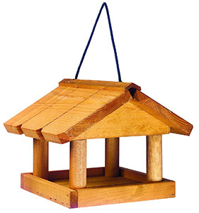 Hanging Wooden Bird Table