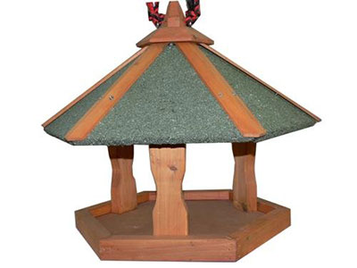 Hexagonal Hanging Bird Table