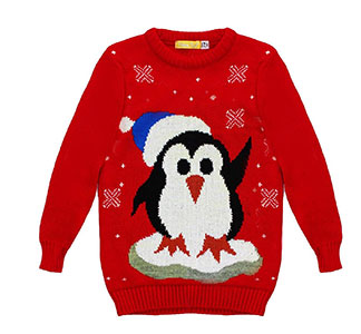 Kids' Penguin Christmas Jumper