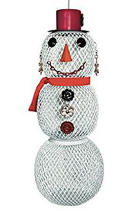 Mrs Snowman Bird Feeder