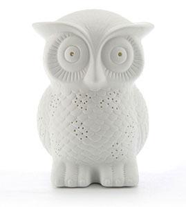 Porcelain Owl Lamp