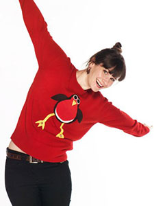 Christmas Robin Jumper With Bells