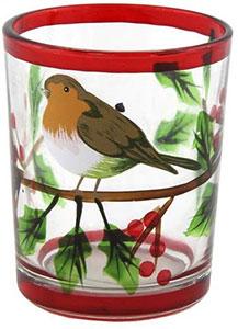 Christmas Robin Candle Holder