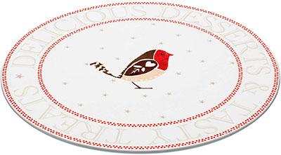 Red Robin Porcelain Plate