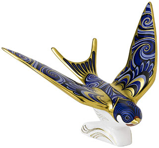Royal Crown Derby Swallow Paperweight