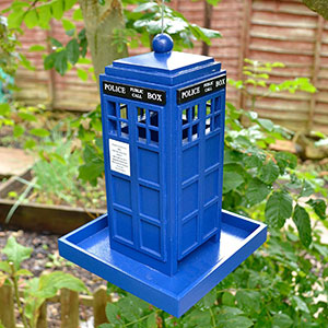 Police Box Tardis Bird Feeder