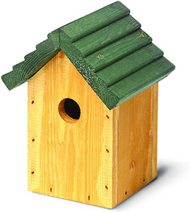 Tom Chambers Cosy Bird Pitched Green Roof Nest Box