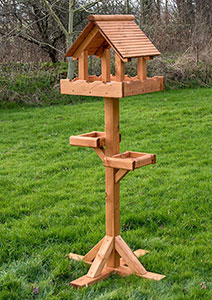 Triple Platform Bird Table