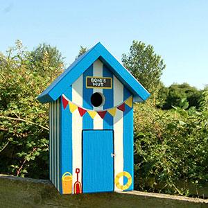 Beach Hut Bird Box
