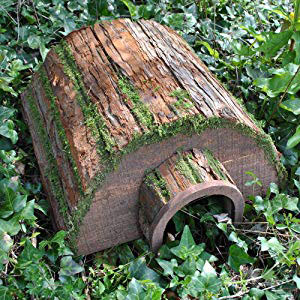 Wooden Barkwood Hogitat Hedgehog House