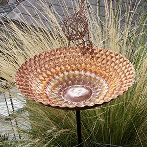 Honeycomb Copper Bird Bath