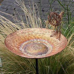Sunflower Copper Bird Bath