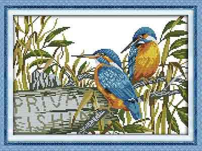 Kingfisher Cross Stitch Kit