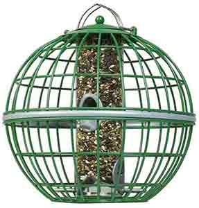 The Nuttery Squirrel Proof Globe Bird Seed Feeder