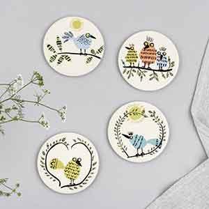 Ceramic Bird Coasters