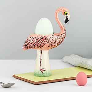 Handmade Ceramic Flamingo Egg Cup