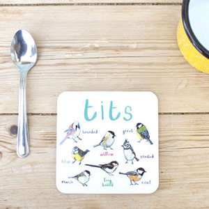 'Tits' Bird Coaster
