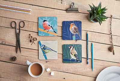 Garden Birds Coaster Set